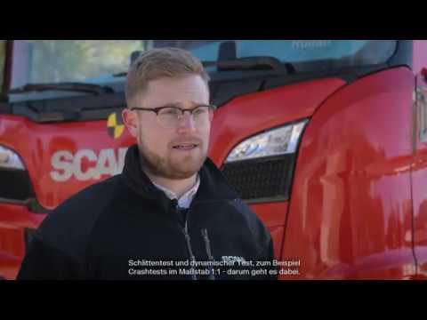Crashtest mit Scania CrewCab