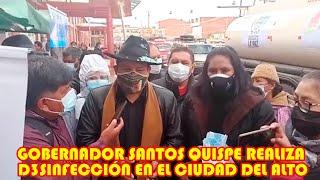 SANTOS QUISPE REALIZÓ DESINF3CCIÓN DE LOS PREDIOS DEL TERMINAL INTERPROVINCIAL DE EL ALTO..