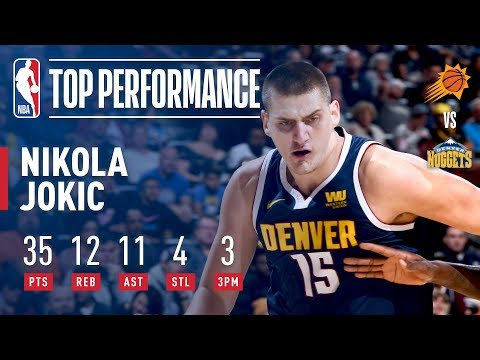 Nikola Jokic Records A Triple Double On Perfect Shooting | October 20, 2018