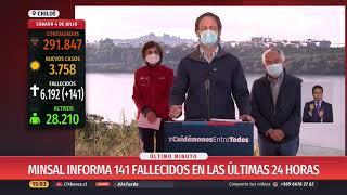 Balance por coronavirus: 141 nuevas muertes en Chile