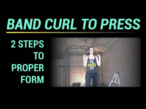 Band Curl to Press