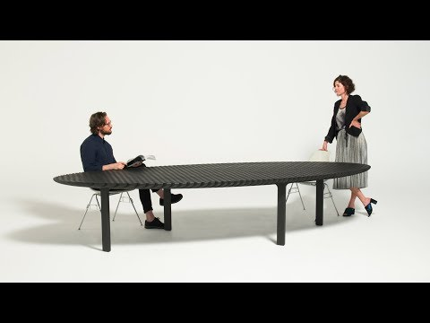 Heatherwick Studio's Friction table expands to adapt to different spaces