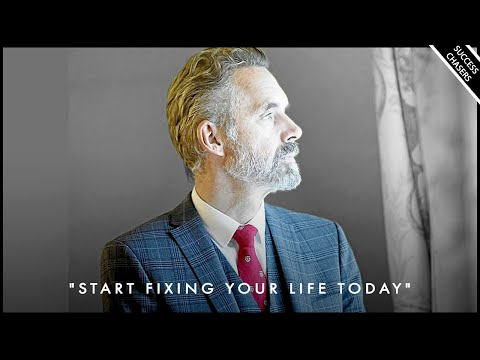 START FIXING YOUR LIFE TODAY! Don't Waste Anymore Time - Jordan Peterson Motivation photo