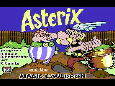Commodore 64: Asterix and the Magic Cauldron game ending by Melbourne House