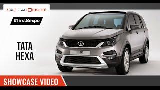 #first2expo : Tata Hexa | Showcase Video | CarDekho@AutoExpo