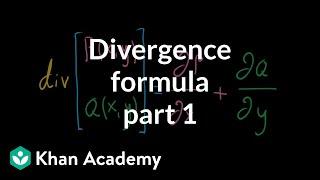 Divergence formula, part 1