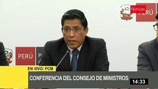 Conferencia del Consejo de Ministros 19/2/2020