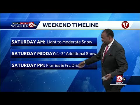 First Alert: More snow to come