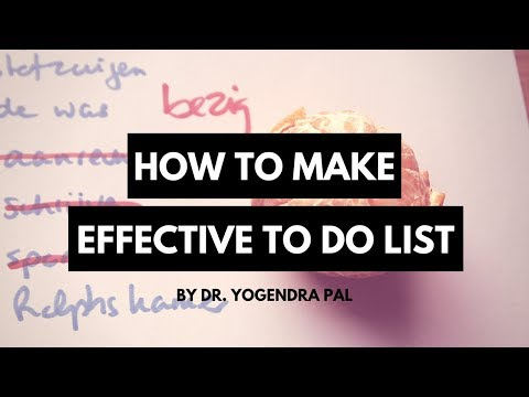 How to make an effective to do list - for students (Hindi / Urdu)