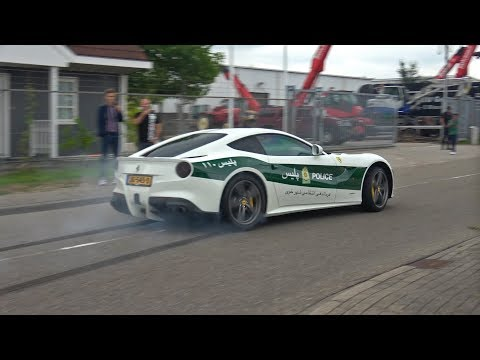 Ferrari F12 Berlinetta w/ LOUD Capristo Exhaust Making BURNOUTS!