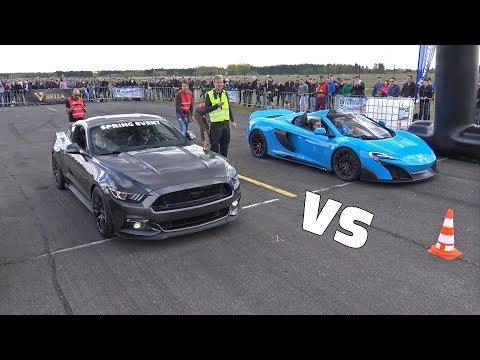 McLaren 675LT vs Ford Mustang GT vs Audi RS7 Sportback