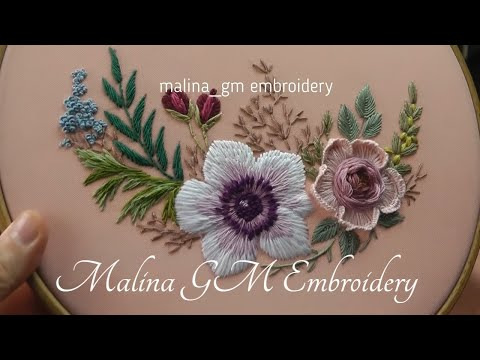 Garden Embroidery:  New Design for Rose | Floral Still Life |pattern