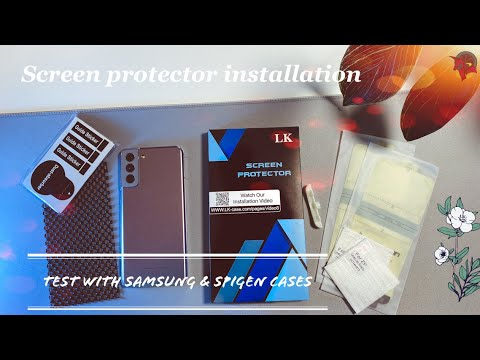 Samsung S21 / S21 Plus Screen Protector & Tempered Glass Camera Lens Protector Installation