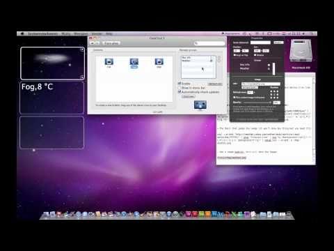 Geek Tool Scripts Weather