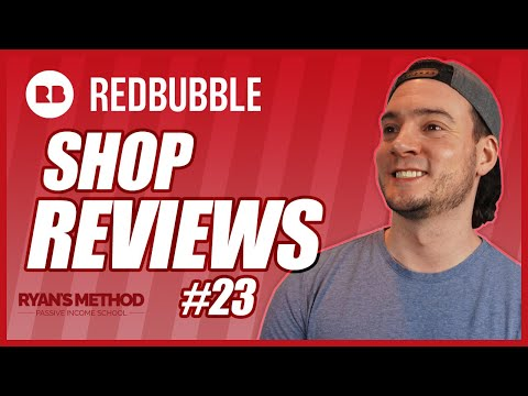 Redbubble Shop Reviews #23 | Lots of STICKERS