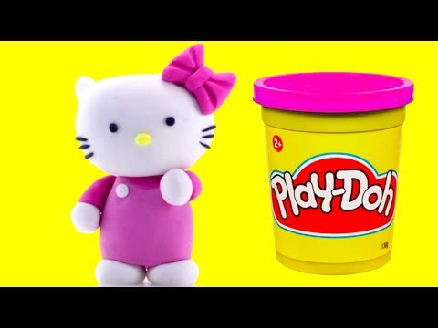 connectYoutube - Hello Kitty Play doh STOP MOTION animation video Fun for kids