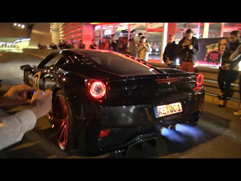 Ferrari 458 Italia w/ Straight Pipes Exhaust Shooting FLAMES!! | GUMBALL 3000 & Ferrari 458 Italia w/ Straight Pipes Exhaust Shooting FLAMES ...