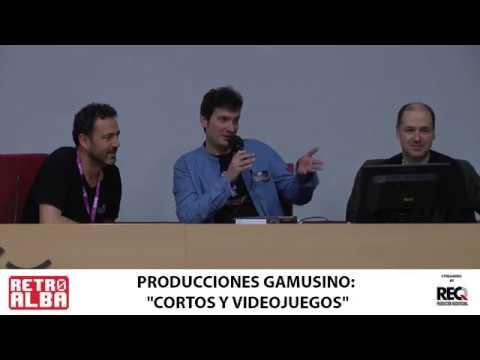 """RETROALBA 2019 Producciones Gamusino hablando de """"Cortos y videojuegos"""""""