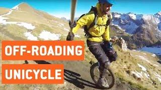 Insane Unicycle Ride Down Mountain | Trail Blazer