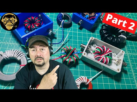 Toroids, Chokes and Baluns -for Ham Radio -  Part 2 - TheSmokinApe