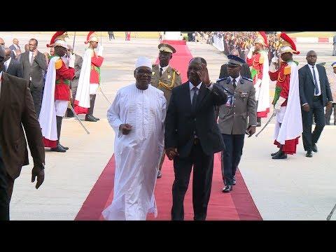 Le Président Alassane OUATTARA a accueilli, ce jeudi 10 mai, son homologue malien