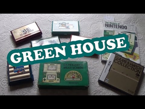 Green House Nintendo Game & Watch GH-52 1982 Unboxing y Gameplay