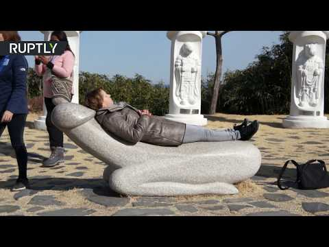 RAW: Dozens of penises erected in South Korean park