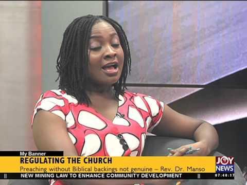 Regulating the church - My Banner on Joy News (9-2-16)