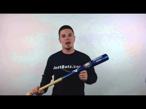 Mizuno Classic Bamboo Baseball Bat: MZB243 Royal/Natural
