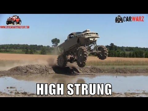 HIGH STRUNG Chevy Mega Truck Taking A Few Jumps At Red Barn Customs Mud Bog 2018