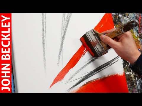 Abstract Art Painting Demonstration With Acrylics | Erisium