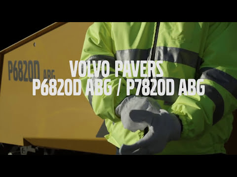 Volvo tracked pavers P6820D P7820D ABG: Need for screed