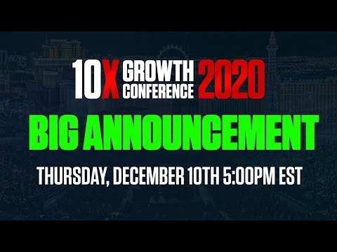 10X Growth Conference Special Announcement photo