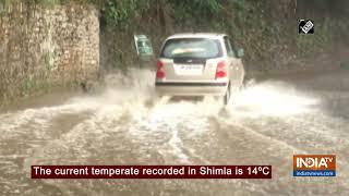 Rain lashes Shimla, brings respite from heat - INDIATV