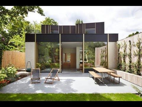 Contemporary Home Deisgn with Vintage Style Built around 100 Year Old Pear Tree