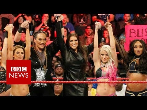 connectYoutube - Bringing female equality to the WWE's ring - BBC News