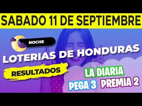 Sorteo 9PM Loto Honduras, La Diaria Pega 3 Premia 2 Sábado 11 de Septiembre del 2021   Ganador