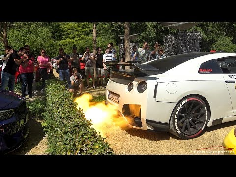 750HP Nissan GT-R R35 NSB-750R - HUGE Flames, Pops & Bangs and Acceleration !