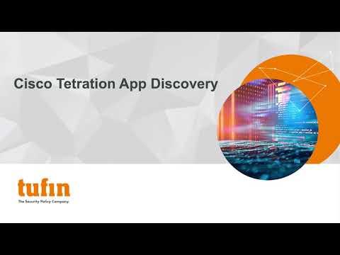 Tufin's Cisco Tetration App Discovery