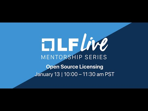 Mentorship Session: Open Source Licensing