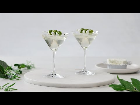 Let's Have a Toast! Dirty Martinis with Garlic & Fine Herbs Cheese
