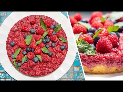МАЛИНОВЫЙ ПИРОГ ПЕРЕВЁРТЫШ | простой летний рецепт ягодный тарт татен с малиной