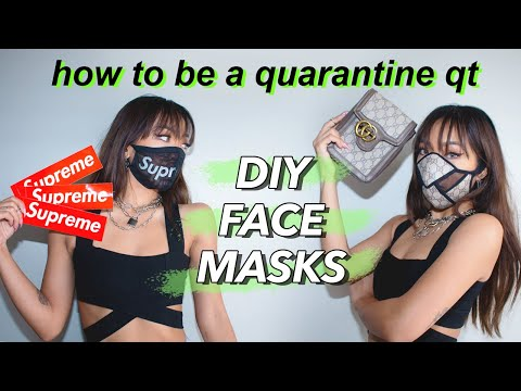 DIY Face Mask Tutorial: upcycling items I found in my home into masks!