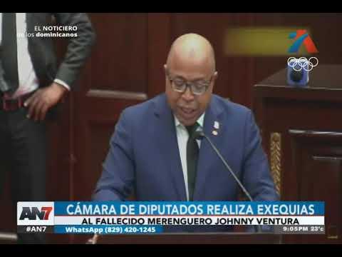 Cámara de diputados realizó exequias por Johnny Ventura