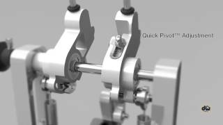 DW Machined Double Pedal Features