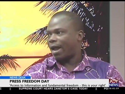 Press Freedom Day - News Desk on Joy News (3-5-16)