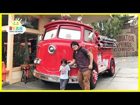 Disney Amusement Rides for Kids and Ryan plays with toy cars!