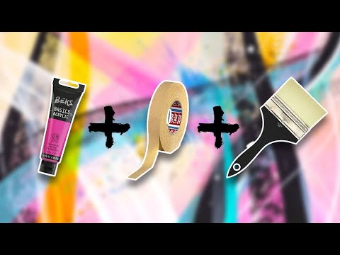 ABSTRACT PAINTING DEMO WITH MASKING TAPE FOR CURVES | Morpheme