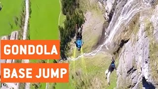 BASE Jumpers Leap From Gondola | Daredevils
