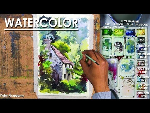 House in the Forest- Watercolor Painting